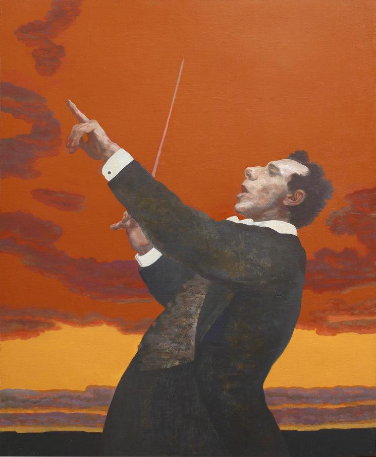 *Director de orquesta*,óleo sobre madera, 2012