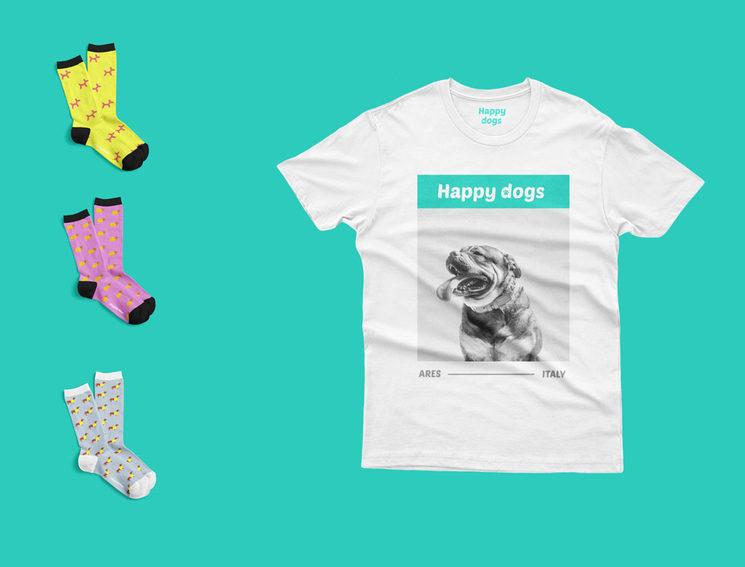 3 pares + Camiseta Happy dogs (49€)