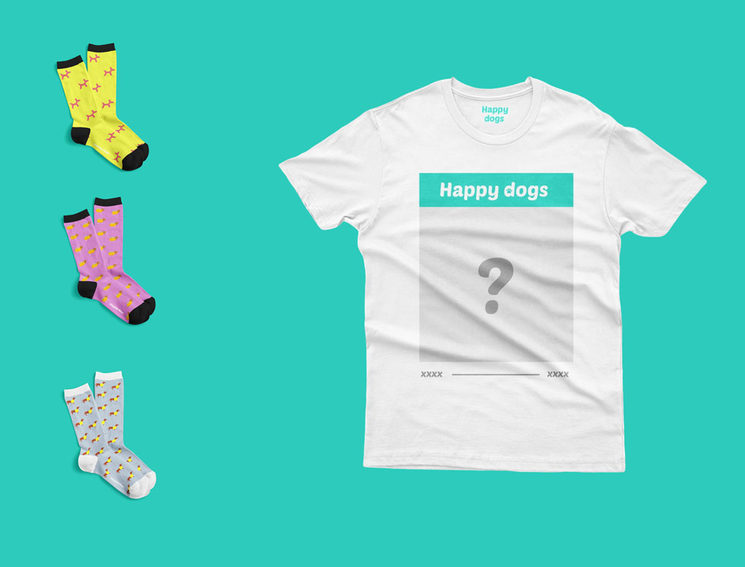 3 pares + Camiseta Happy dogs Personalizada (59€)