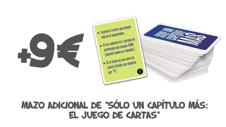 """+9€ Mazo adicional de """"SOLO UN CAPÍTULO MÁS: EL JUEGO DE CARTAS"""""""