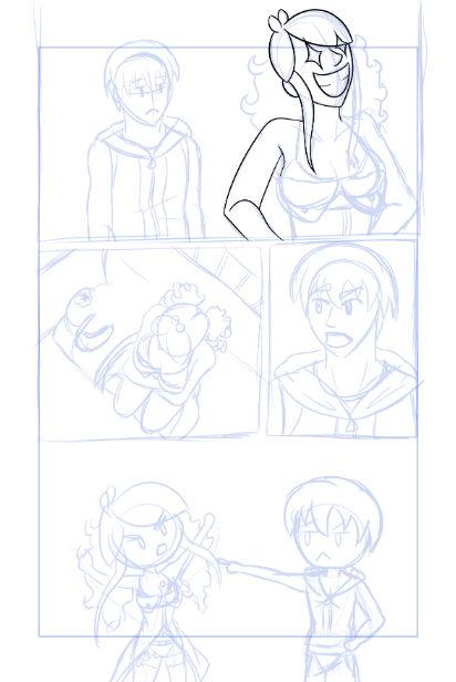 Ejemplo de un boceto de una página de AE justo cuando se está delineando.