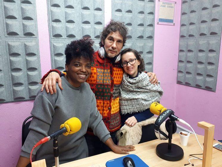 Con Yosi Ledesma y Estela López Rodríguez