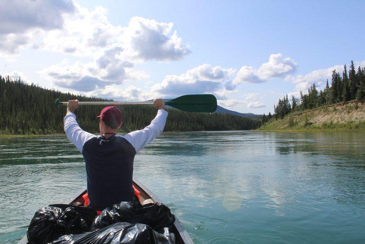 Descendiendo el rio Yukon.
