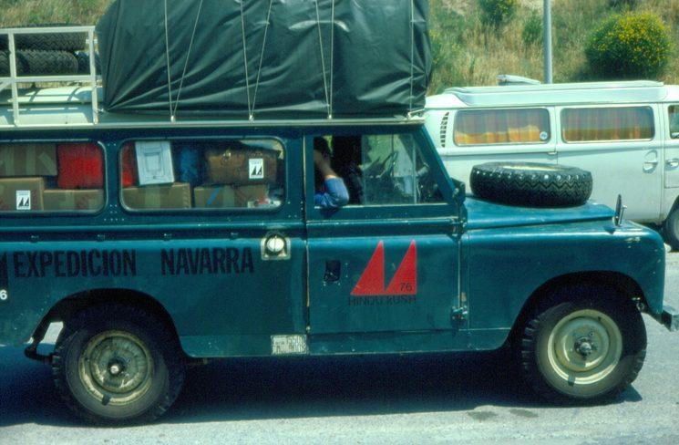 Land Rover de la Expedicion Navarra al Hindu Kush, 1976.