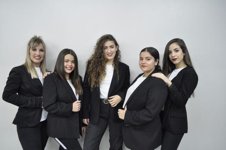 Vane Serrano, Jana Molins, Andrea Alcaraz, Claudia Costa y Bianca Lorente