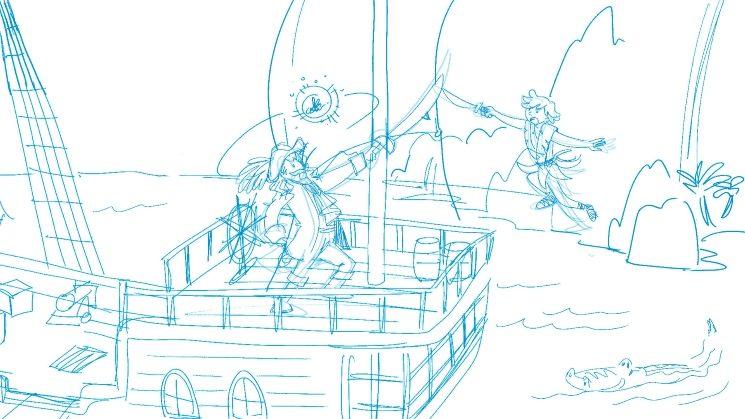 Un boceto de Peter Pan que con tu ayuda verá la luz