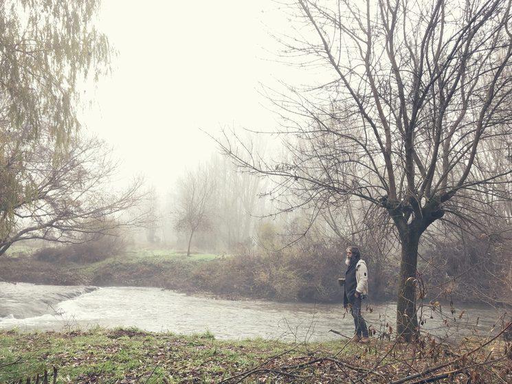 Mañana de niebla junto al río Arlanza.