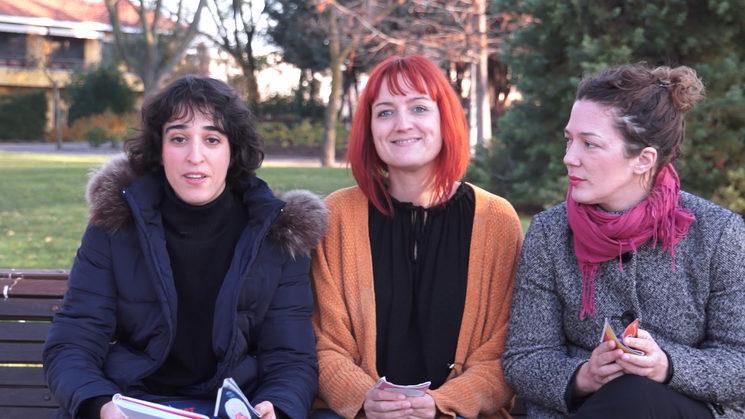De izquierda a derecha, Eva Aro, Susana Armengol y Olivia G. Hardy