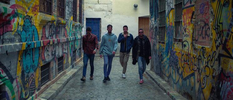 Guiri, Maik, Dani y Emilio. Bicho Malo Band