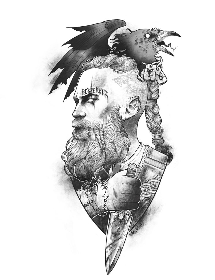 Ilustración Berserker para camisetas