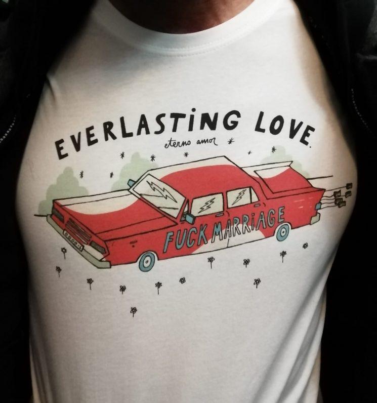 """Camiseta Chico 100% Algodón """"Fucking Marriage"""" Todas las tallas"""