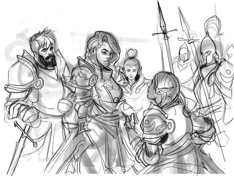 Primeros bocetos para La Furia de Rastilon