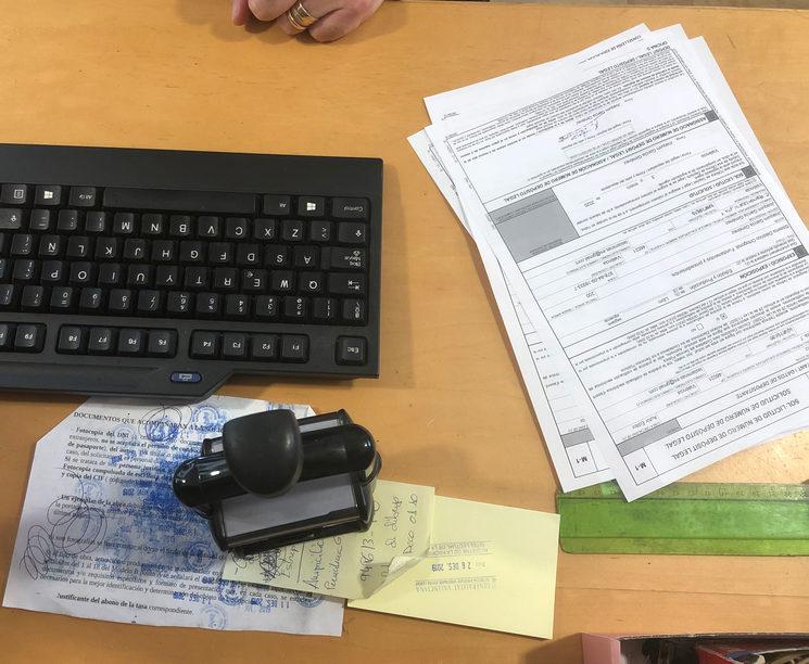 Los impresos en el registro del depósito legal