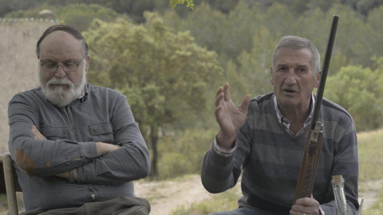 Els caçadors Joan i Josep en un moment de l
