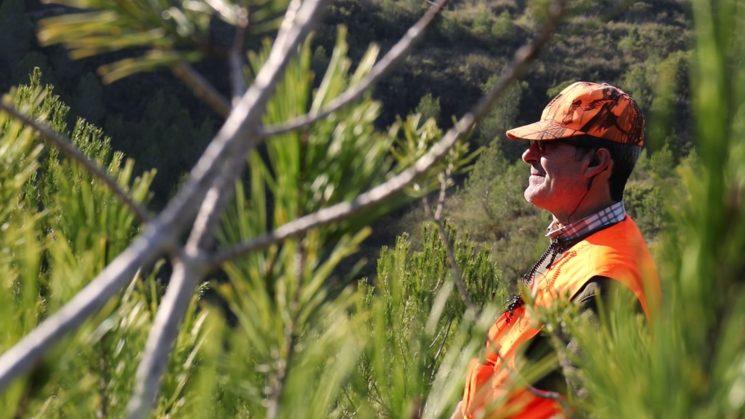 El caçador Miguel a la parada.