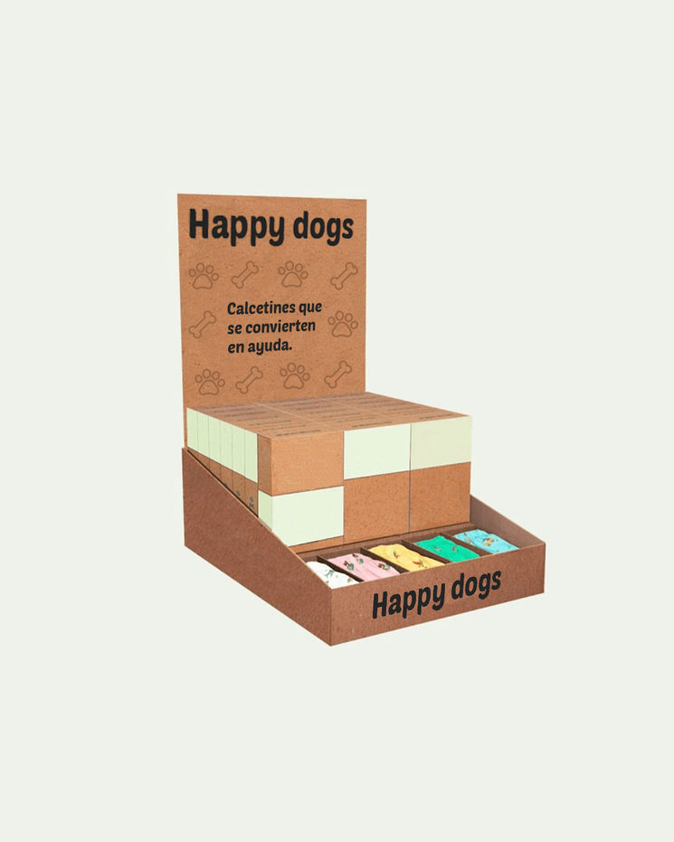 Expositor Calcetines Happy dogs