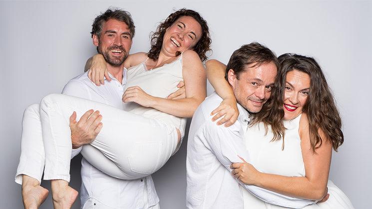 De derecha a izquierda: David Carrio, Marta Ochando, Chema Rodríguez-Calderón, Natalia Domínguez.