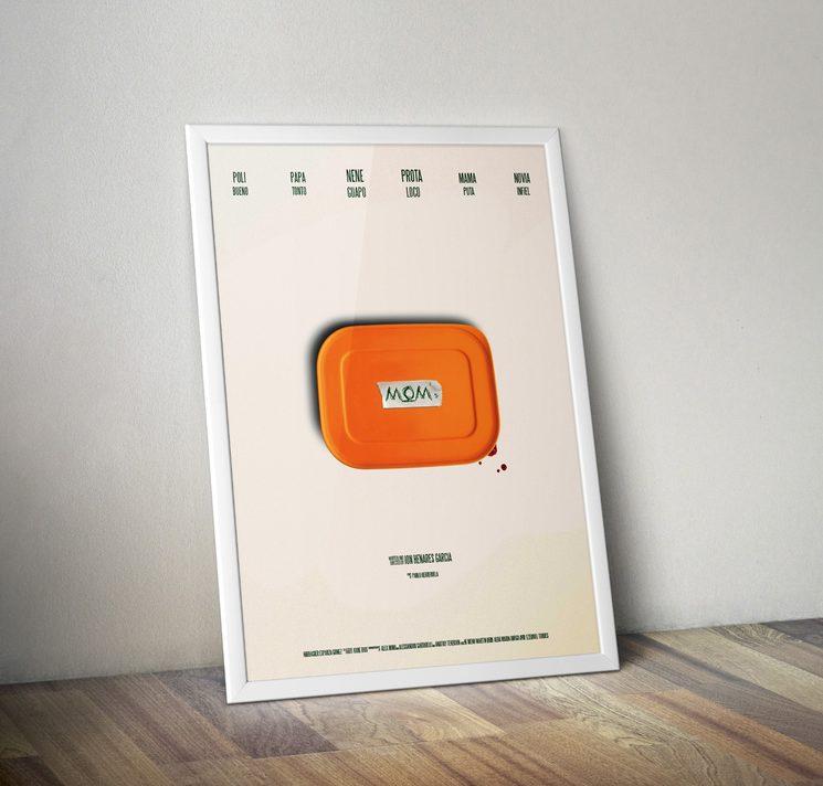 Poster A3 del cortometraje LA COMIDA DE MAMÁ (MOM