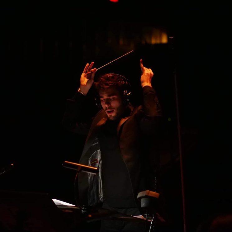 Aaron conducting