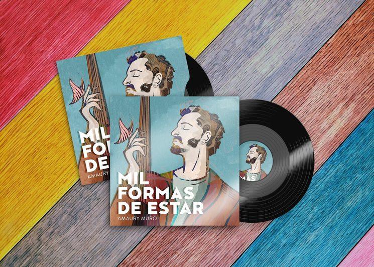 Diseño de la portada del disco por Roberto Rojas