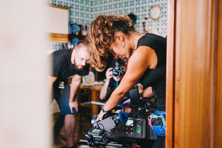Foto de María Juárez del primer día del rodaje