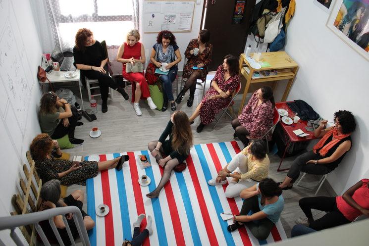 La Sala Mera durante un taller impartido por Coral Herrera.