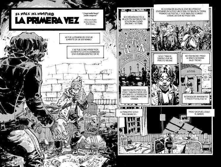 """Páginas 2 y 3 de """"La primera vez"""""""