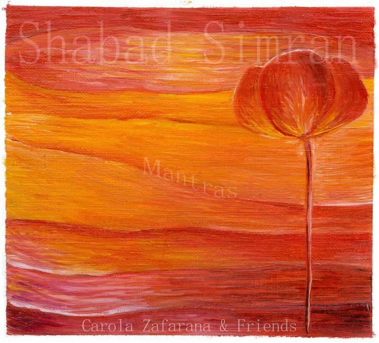 Mi primer cd de mantras Shabad Simran, con la pintura de Isidora Alegría <3