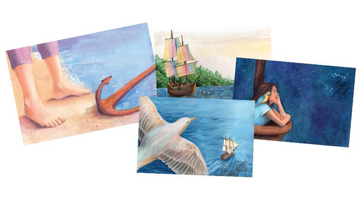 Una de las láminas que podrás elegir para decorar tu camarote.