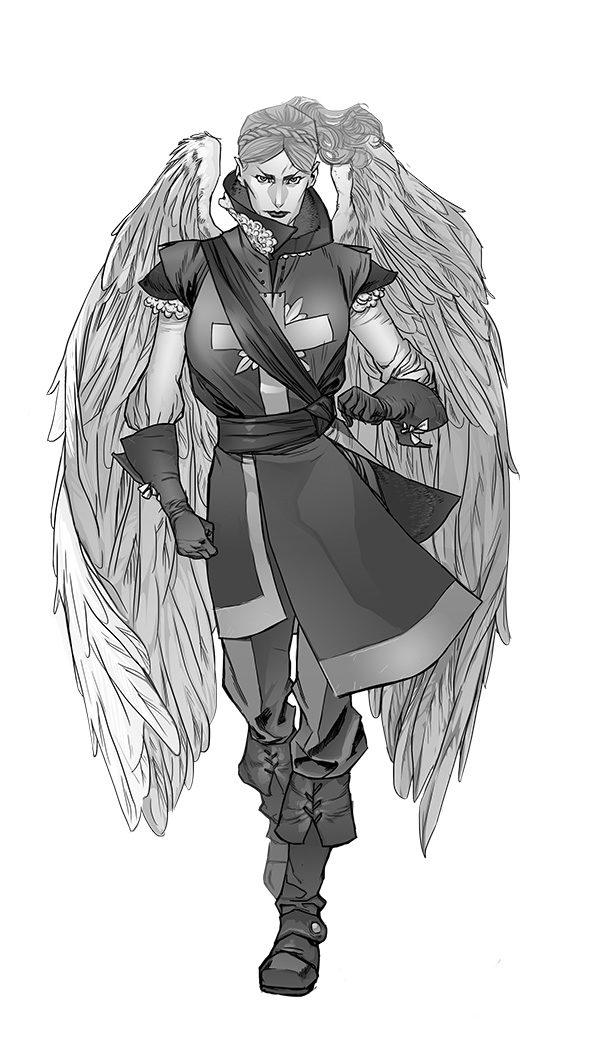 Mujer halcón por Tomás Aira