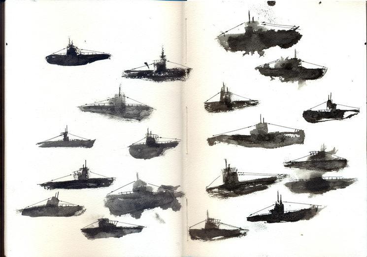 páginas del cuaderno U-Boot