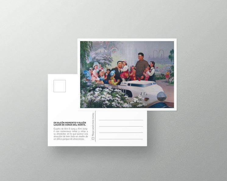 Mockup Postal con imagen de Corea del Norte