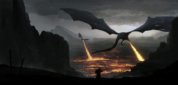 Los dragones diabólicos convierten en cenizas toda la vida que hallan en Orbis