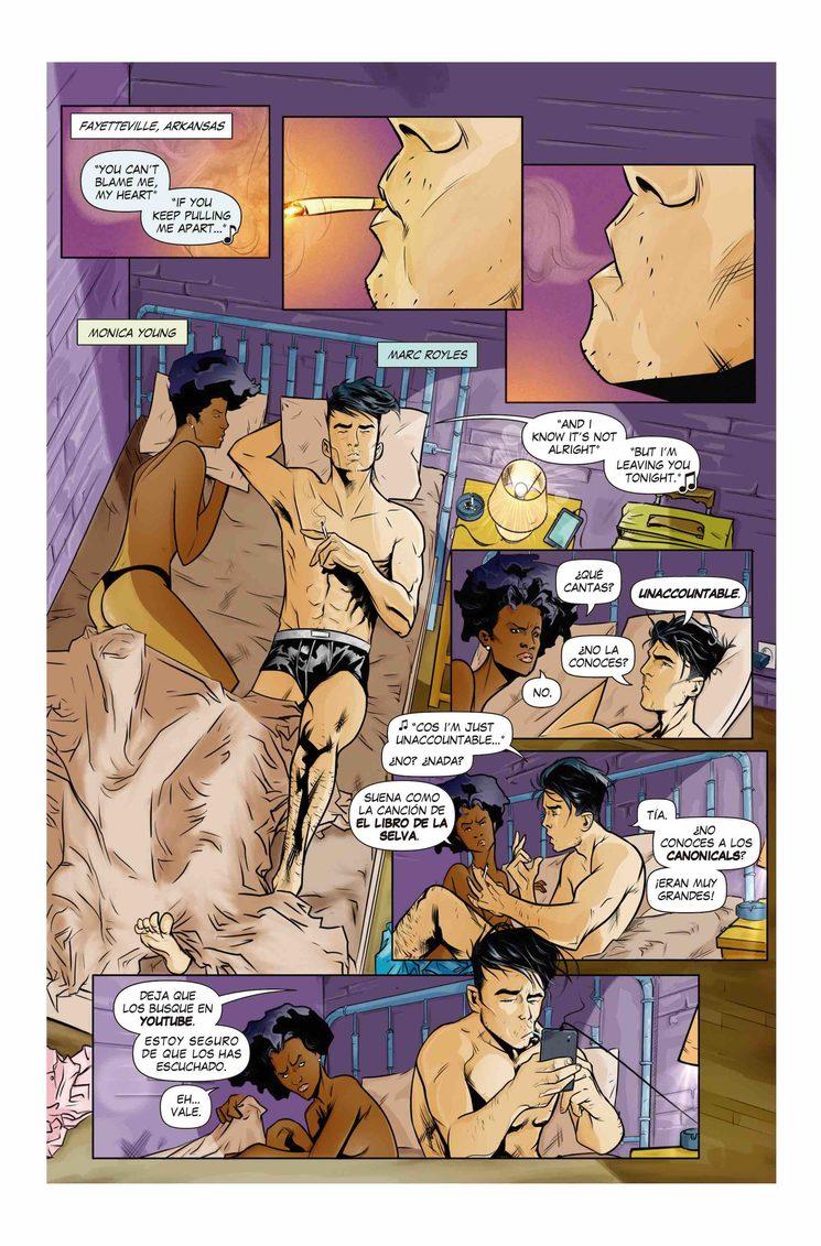 Quinta página del cómic