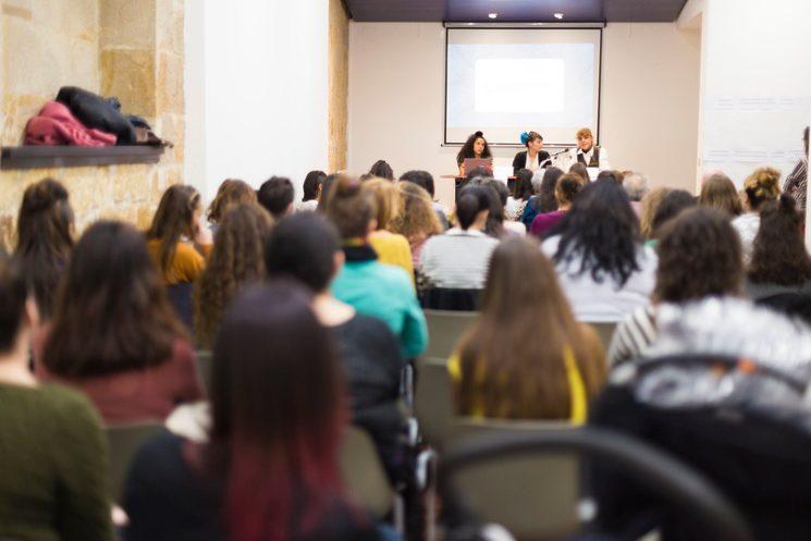En la lucha somos muchas y diversas. 2018. Jesenia, Saray Montes, Andrea Momoitio, Palmira Dual