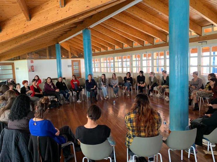 Jornada participativa Círculos. 2019. Mery Ann Garling, Marlene Aguinagalde, Bego Jiménez, Melissa Rodas, Saray Borja, Sumaya del Peral