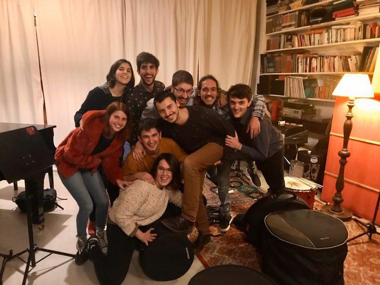 Final de la primera sesión de grabación (diciembre de 2019)