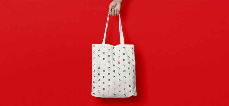 "One of the rewards: ""Sopa de Lletres"" Tote bag"