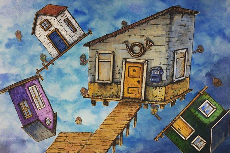 Algunas de las casas que aparecerán en el corto.