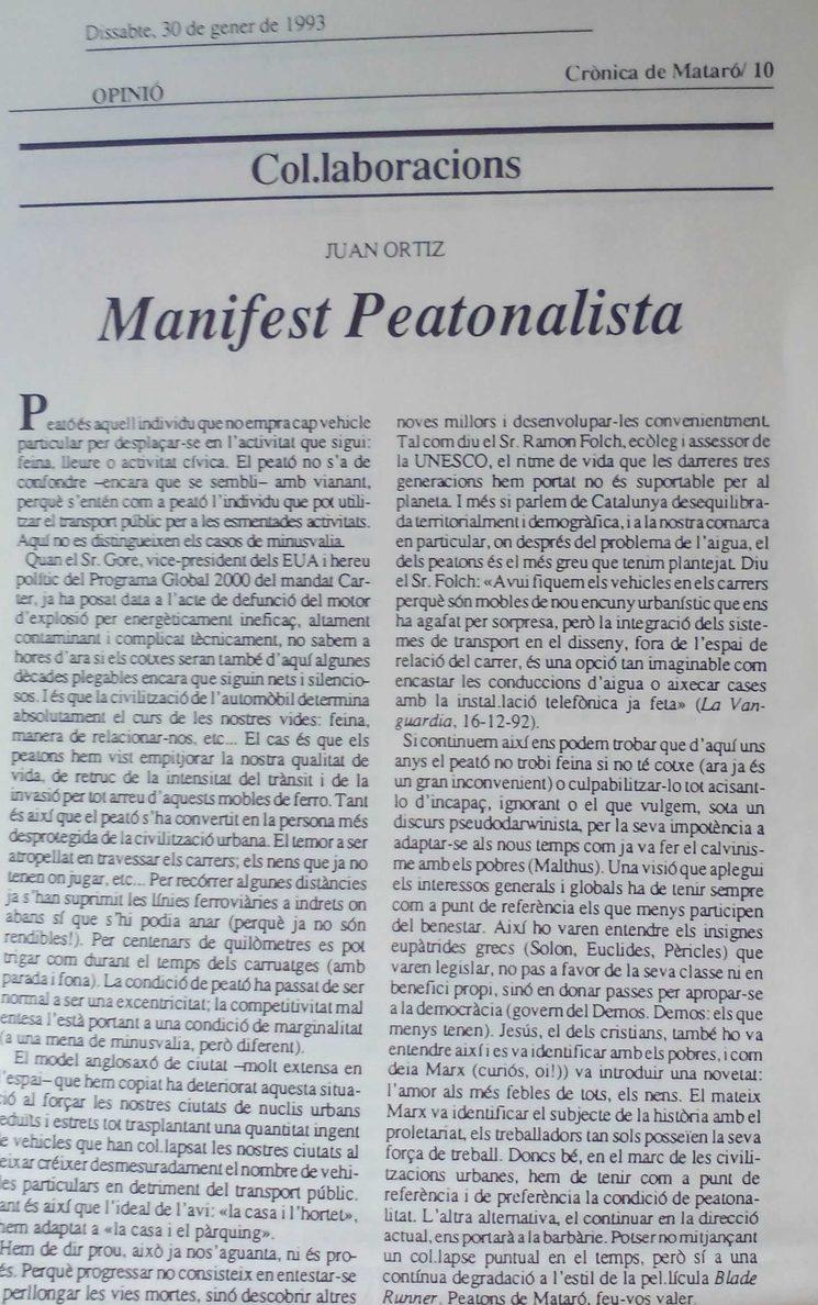 Manifest Peatonalista
