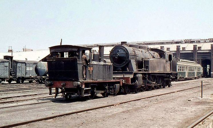 MZA 606 locomotive still in service, Barcelona the Poble Nou 1968