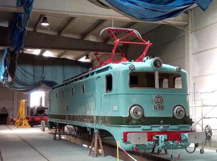 Locomotive 7631 under restoration