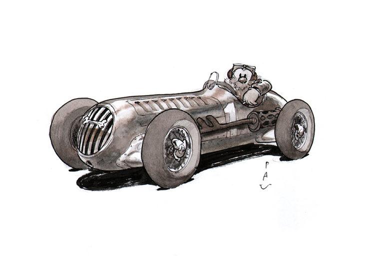 Dibujos originales a lápiz, tinta y acuarela en tamaño DIN A5.