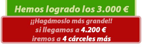 ¡¡HEMOS LOGRADO LOS 3.000 € PERO PODEMOS HACERLO MÁS GRANDE Y LLEGAR MÁS LEJOS!!