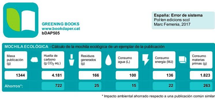 Un ejemplo de la Declaración Ambiental de Producto Simplificada BookDaper.cat