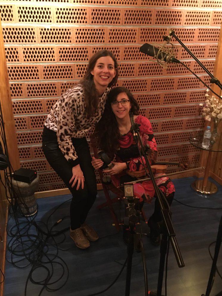 Amb la violinista Ariadna Gabarrell
