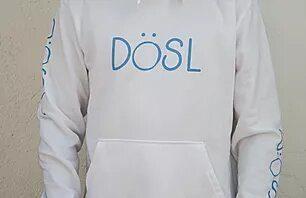 Model blanc amb serigrafia blava
