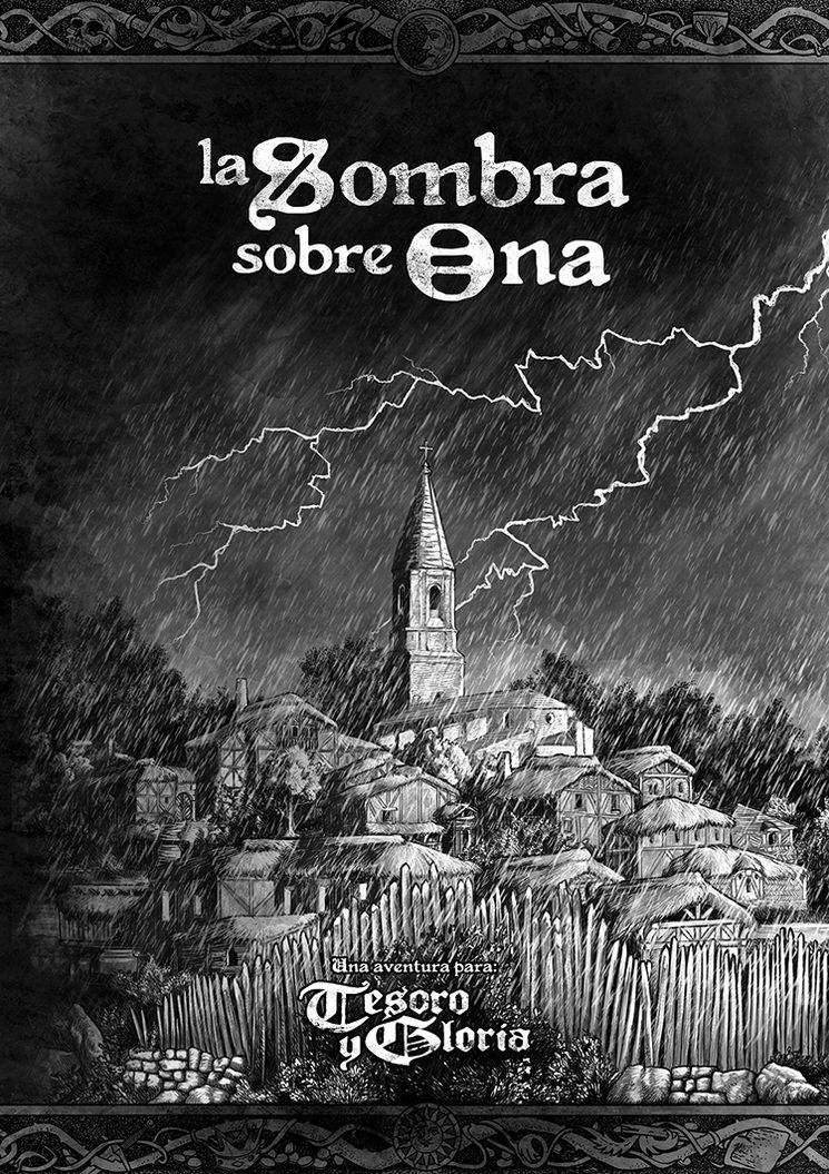 La portada de la aventura La Sombra sobre Ona