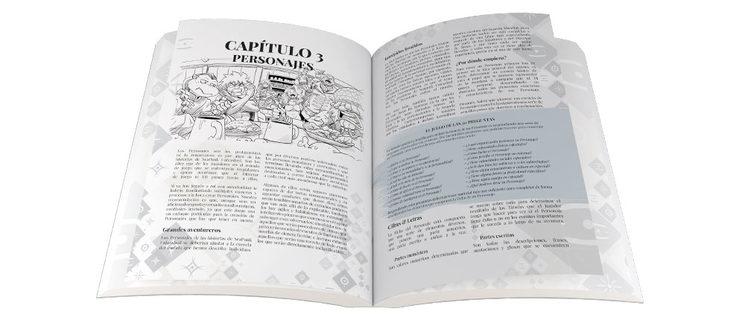 Modelo de la maquetación interior del libro, por Enrique Andrades y Pedro Paul. La versión final podría presentar leves variaciones.