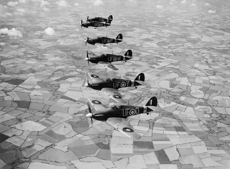Escuadrón de aviones Hurricane